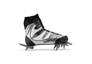 Ice climbing shoes