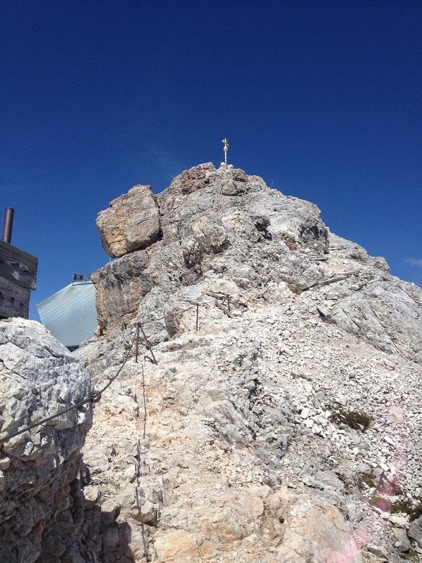 Kurz vor dem Zugspitz-Gipfel