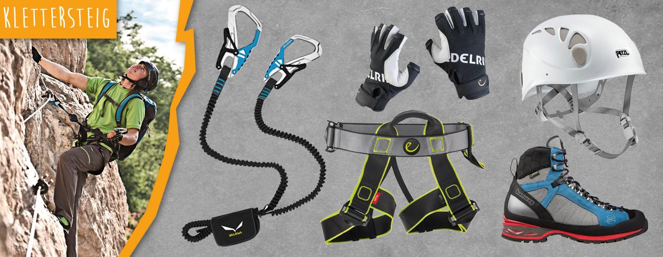 Klettersteigausr�stung f�r deine n�chste Tour